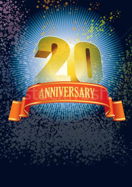 Twentieth anniversary Stock photo © Aiel