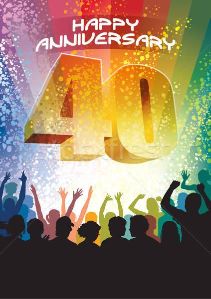 Fortieth anniversary Stock photo © Aiel