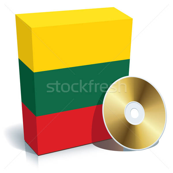 Lithuanian software box and CD Stock photo © Aiel
