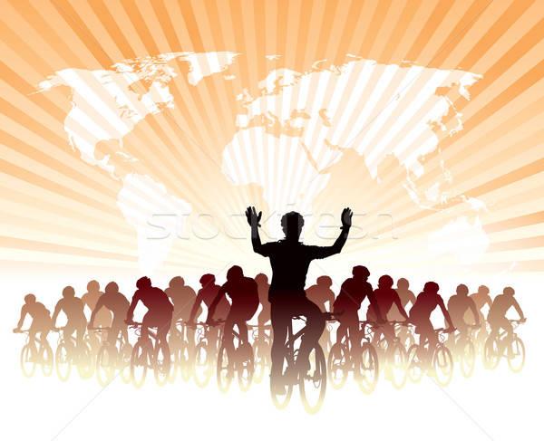 Mundo campeonato grupo ciclista bicicleta carrera Foto stock © Aiel