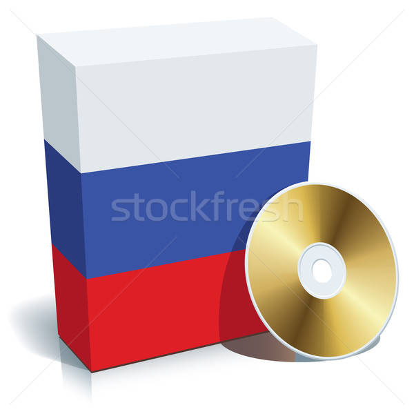 Russian software box and CD Stock photo © Aiel