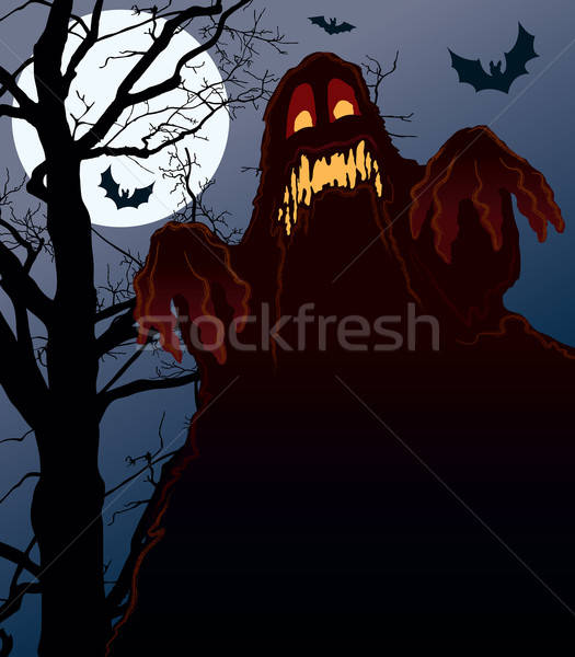 Nachtmerrie demonisch nacht perfect illustratie halloween Stockfoto © Aiel