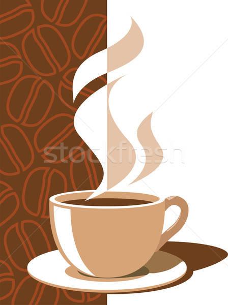 Stock fotó: Kávéscsésze · aroma · gőz · barna · kávé · étel