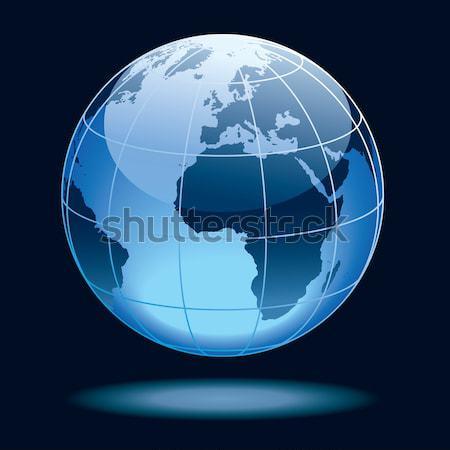 Foto stock: Globo · terra · continentes · Ásia · África