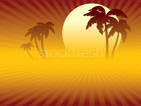 Tropical sunset Stock photo © Aiel