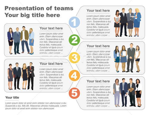 Presentation of teams Stock photo © Aiel