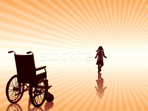 Guarigione vuota sedia a rotelle bambino nuovo Foto d'archivio © Aiel