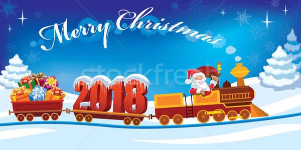 Christmas train 2018 Stock photo © Aiel