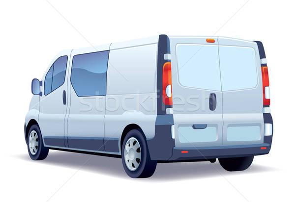 Blanche commerciaux véhicule affaires route Photo stock © Aiel