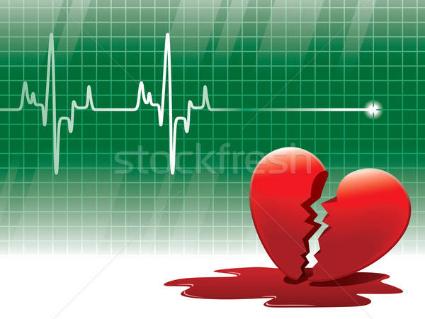 ストックフォト: 命綱 · 心電図 · 失恋 · 医療 · 健康 · 背景