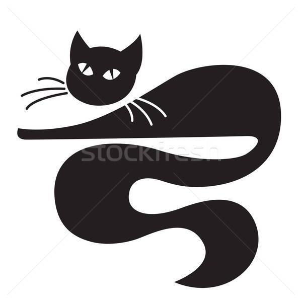 黒猫 幸せ 自然 デザイン 芸術 にログイン ストックフォト © Aiel