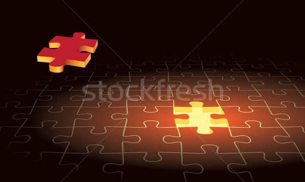 Stock fotó: Puzzle · egyrészes · ruha · kirakós · játék · repülés · repülőgép · háttér