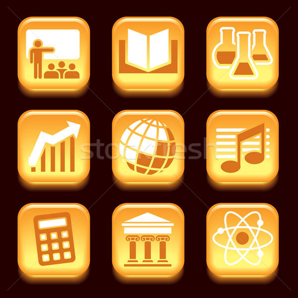 Science and education icons Stock photo © Aiel