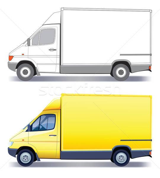 Camion de livraison jaune commerciaux véhicule layout Photo stock © Aiel
