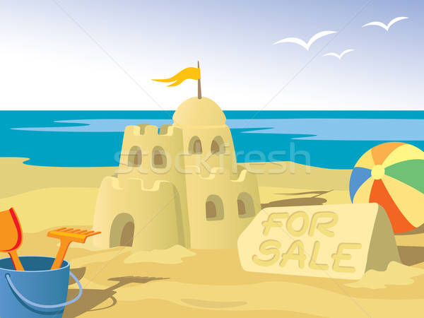 Sandcastle Stock photo © Aiel