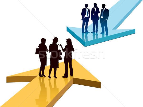 Confrontation différent hommes femmes affaires Photo stock © Aiel
