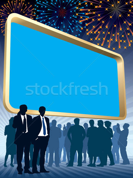 Large billboard and fireworks Stock photo © Aiel