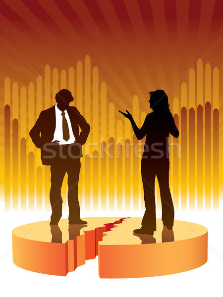 Confrontation personnes parler graphique affaires illustration Photo stock © Aiel