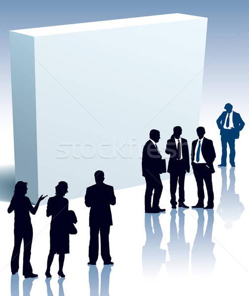 Groß Feld Menschen stehen Business Mann Stock foto © Aiel