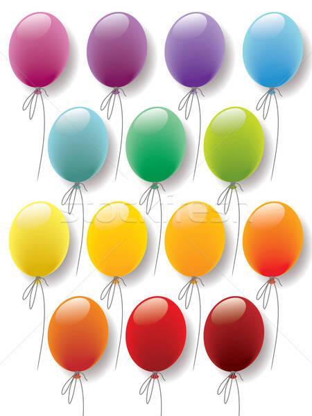 Stok fotoğraf: Balonlar · toplama · renkli · hazır · tasarımlar · süslemeleri