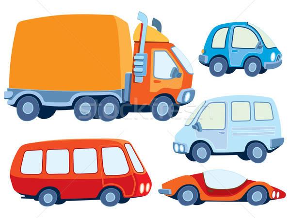 Zdjęcia stock: Samochodu · kolekcja · różny · funny · sztuki · pomarańczowy