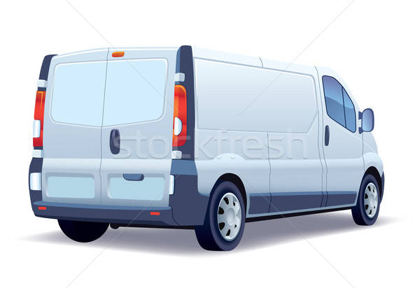 Stockfoto: Witte · commerciële · voertuig · business · weg