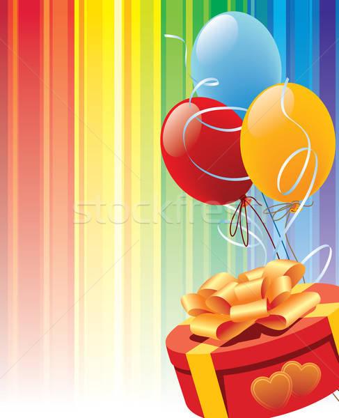 Stockfoto: Valentijn · geschenk · verjaardag · harten · bos · kleurrijk