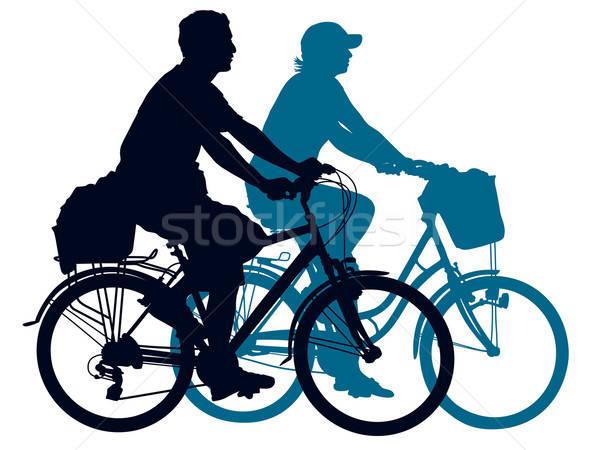 Foto d'archivio: Ciclismo · Coppia · persone · estate · viaggio · donna
