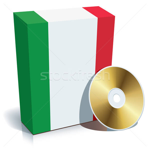 Italian software box and CD Stock photo © Aiel