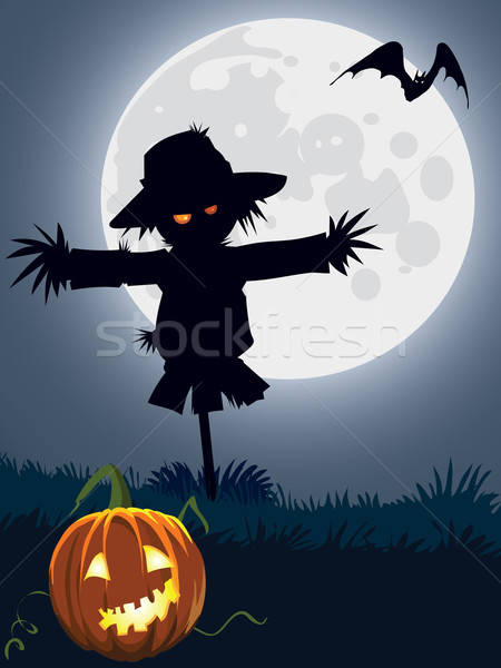 Scary scarecrow Stock photo © Aiel