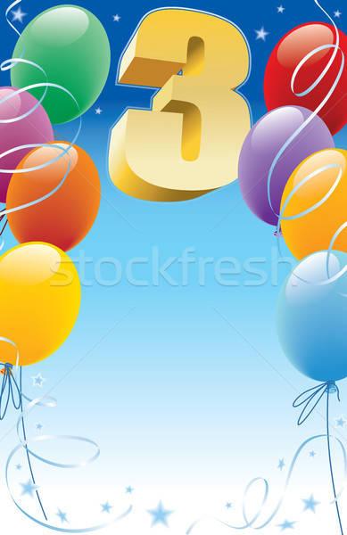 Stock photo: Third birthday