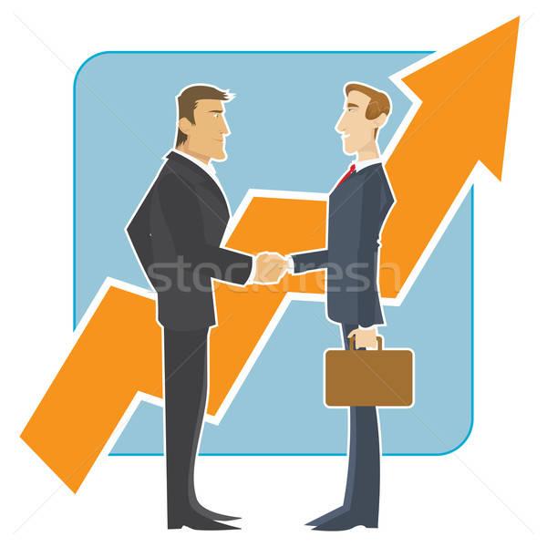 Stock fotó: üzlet · kézfogás · megbeszélés · üzleti · partnerek · nagy · növekvő