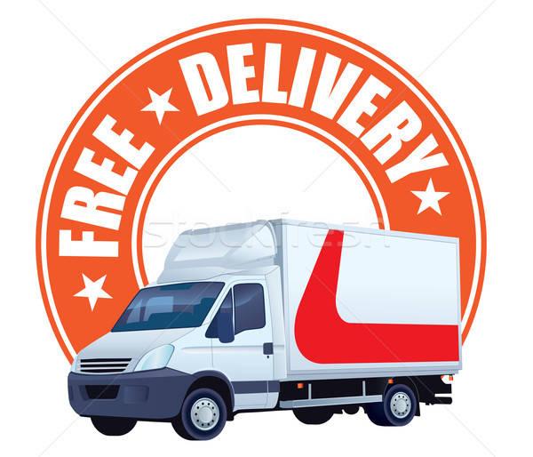 бесплатная доставка знак белый грузовик дизайна фон Сток-фото © Aiel