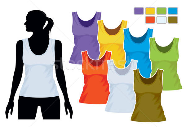 Sleeveless shirt template Stock photo © Aiel