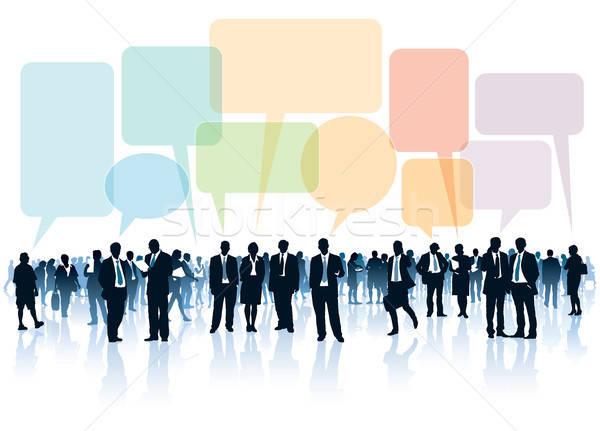 Menigte permanente lopen praten business Stockfoto © Aiel