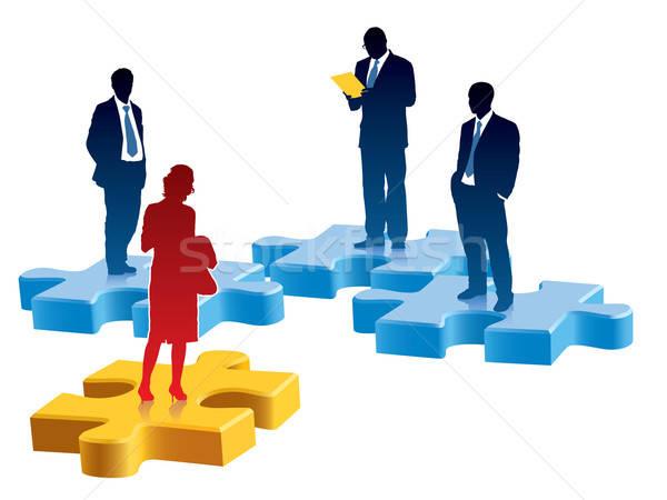 Zdjęcia stock: Rekrutacja · ludzi · stałego · kolorowy · sztuk