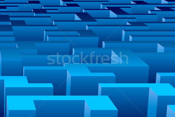 Stock fotó: Labirintus · nézőpont · kilátás · jó · metafora · illusztráció
