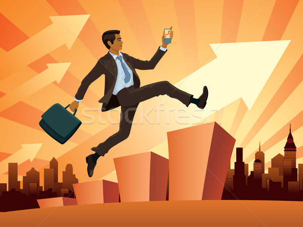 Businessman in a hurry Stock photo © Aiel