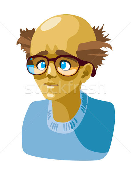 őrült avatar portré különc személy izolált Stock fotó © Aiel