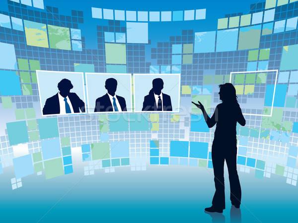 Stock photo: Virtual meeting