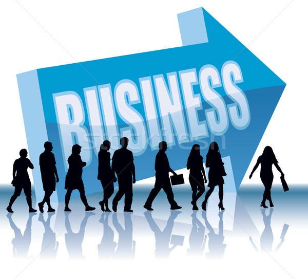 Foto stock: Dirección · gente · de · negocios · negocios · ilustración · nina · hombre