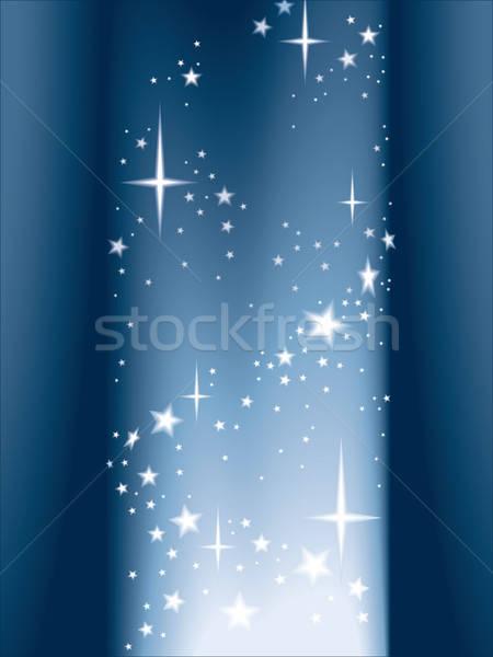 Lumière étoiles magie colonne brillant anniversaire Photo stock © Aiel
