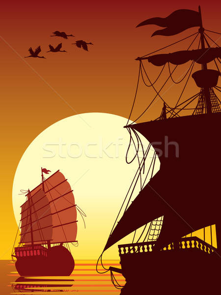Sailing to the sun Stock photo © Aiel