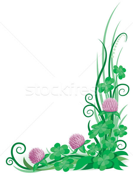 Trevo ornamento pronto primavera abstrato natureza Foto stock © Aiel