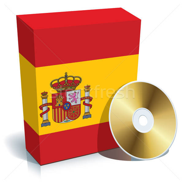 Spanish software box and CD Stock photo © Aiel