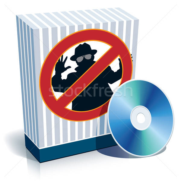 Box with anti-spy sign and CD Stock photo © Aiel