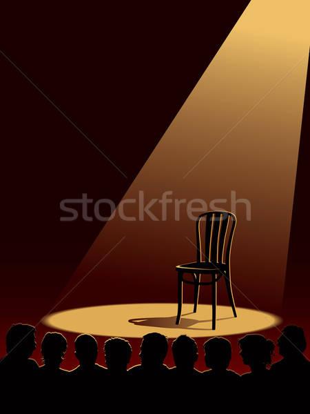 Vár emberek színész egy üres színpad Stock fotó © Aiel