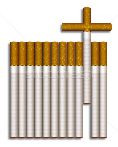 Cigarette cross Stock photo © Aiel