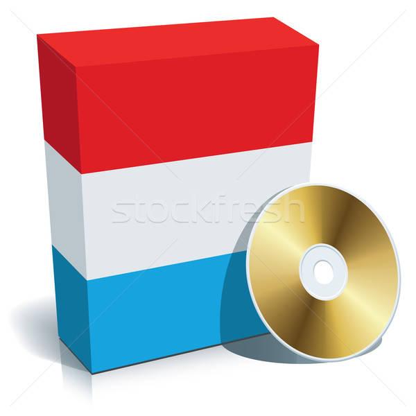 Software vak cd vlag kleuren business Stockfoto © Aiel