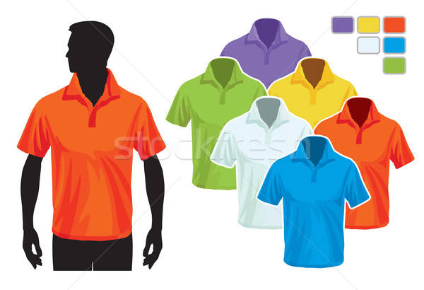 Polo modèle homme corps silhouette coloré Photo stock © Aiel